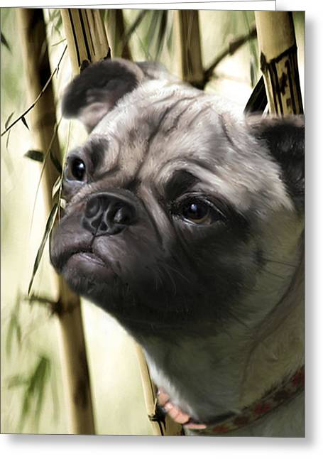 Reggie Greeting Card by Kathi Ganong