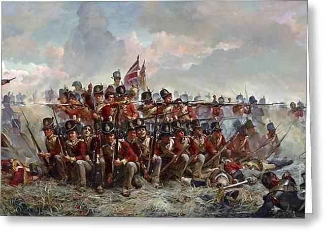 Regiment At Quatre Bras Greeting Card by MotionAge Designs