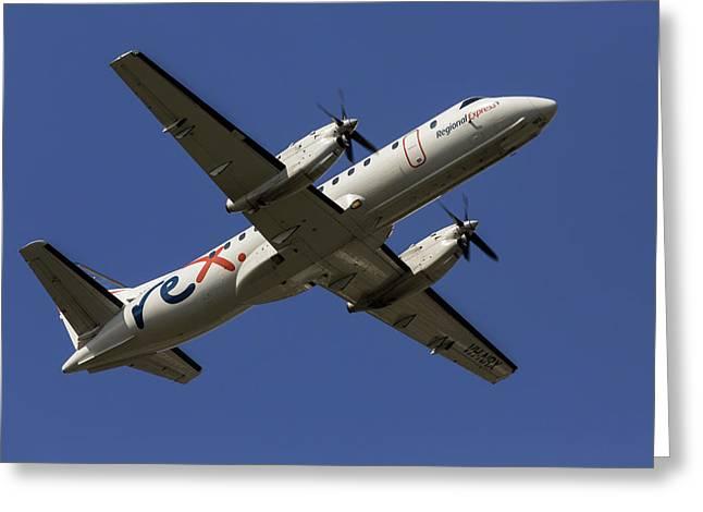 Regional Express Saab 340 Greeting Card