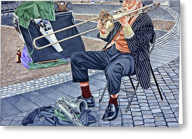 Rehearsal In Prague Greeting Card