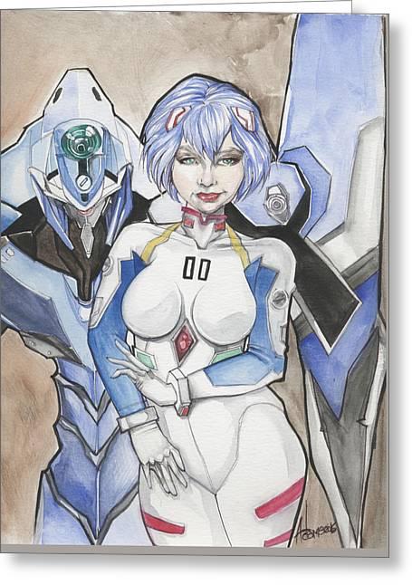 Rei Ayanami Greeting Card