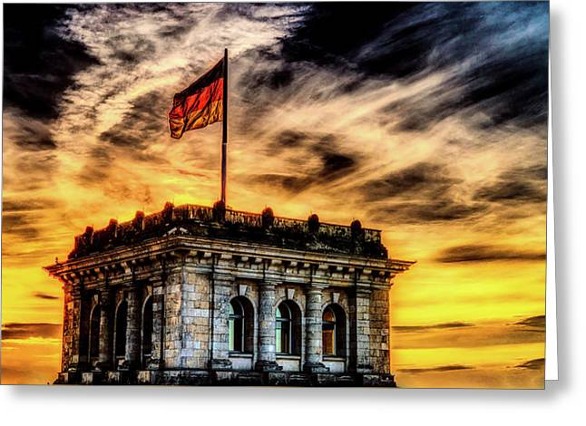 Reichstag At Sunset Greeting Card