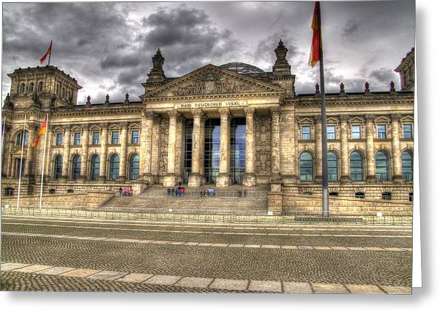 Reichstag Building  Greeting Card by Jon Berghoff