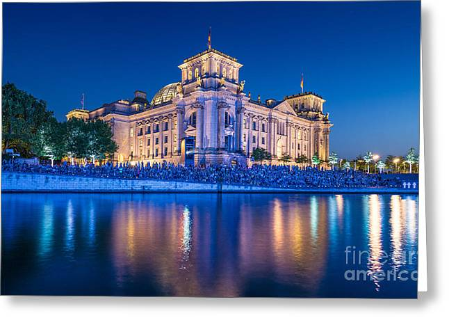 Reichstag Greeting Card by JR Photography