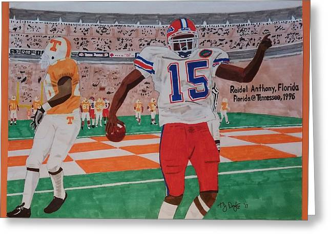 Florida - Tennessee Football Greeting Card by TJ Doyle