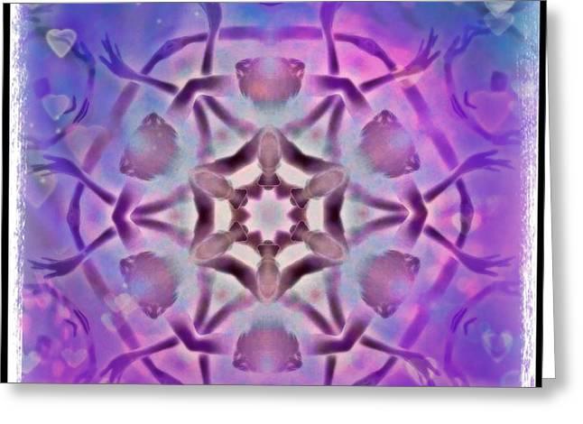 Reiki Infused Healing Hands Mandala Greeting Card