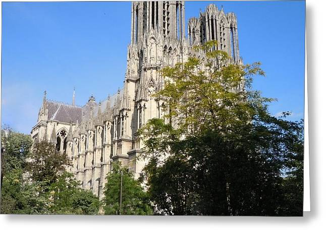 Reims Cathedral Reims France Greeting Card by Marilyn Dunlap