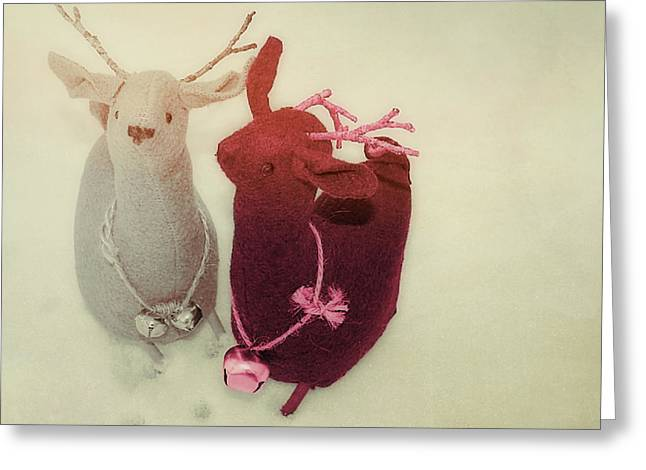 Reindeer Dash Greeting Card by JAMART Photography
