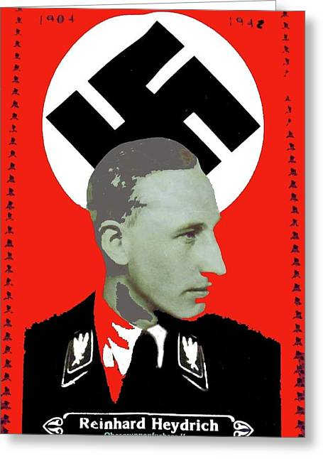 Reinhard Heydrich  Nazi Memorial 1942 Color Added 2016 Greeting Card by David Lee Guss