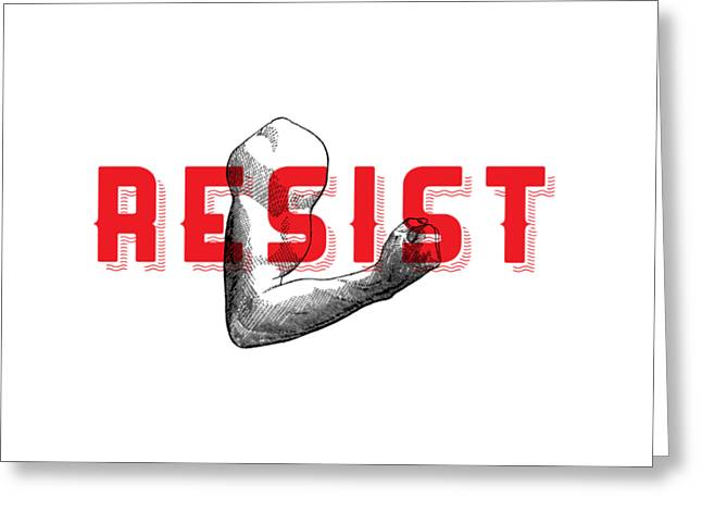 Reisist Arm Tee Greeting Card