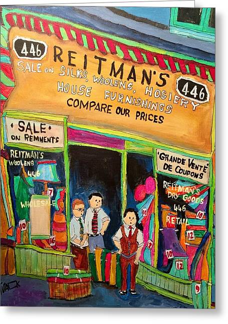Vintage Reitman's First Store 1926 St. Lawrence Greeting Card