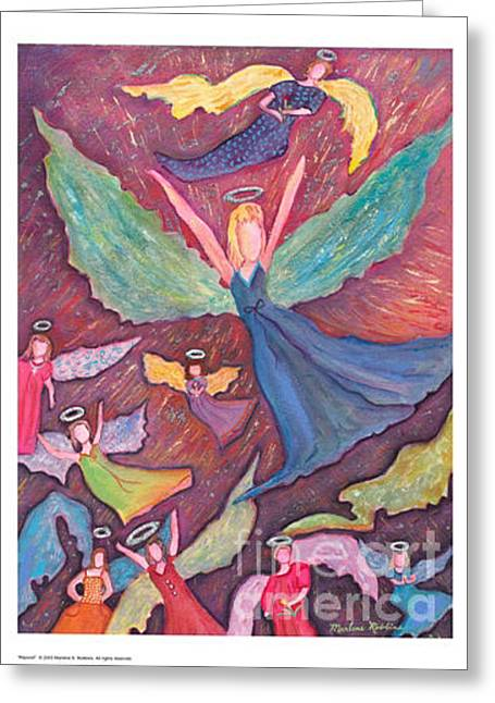 Rejoice Greeting Card by Marlene Robbins