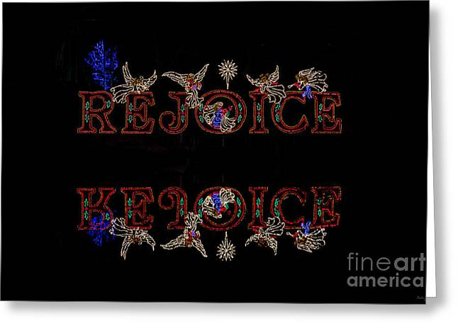 Rejoice Reflections Greeting Card by Jennifer White