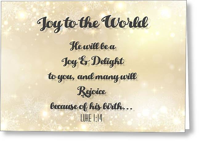 Rejoice Snowflake Christmas Greeting Card