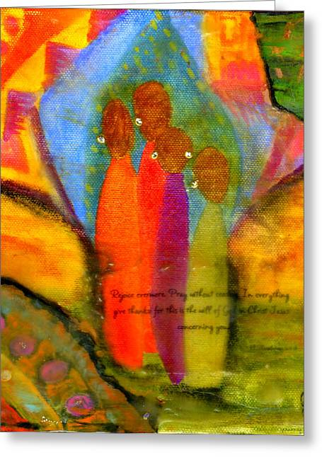 Survivor Art Greeting Cards - Rejoice Some More Greeting Card by Angela L Walker