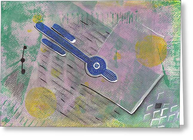 Relativity And Such Greeting Card by Maura Satchell