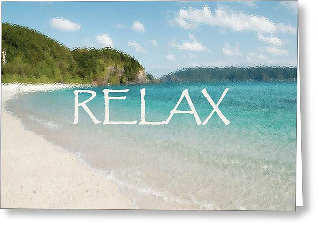 Relax Greeting Card by Giselle Norville