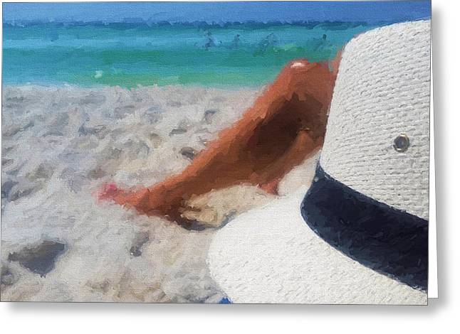 Relax In South Walton Greeting Card by JC Findley