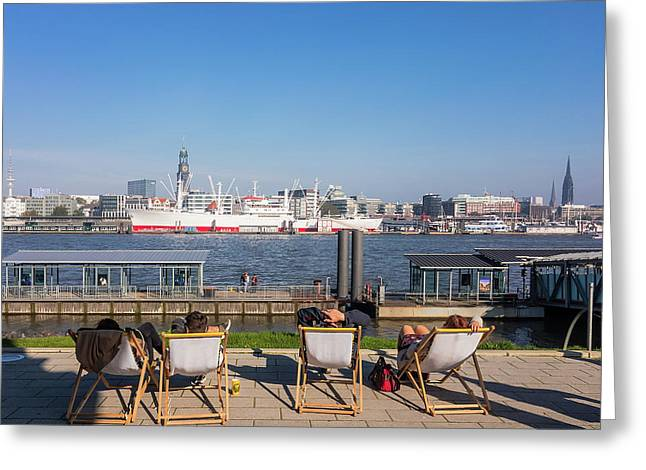 Relax On The Elbe Greeting Card