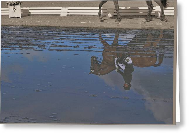 Relaxation Mirrored Greeting Card by JAMART Photography