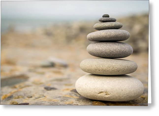 Relaxation Stones Greeting Card by John Williams