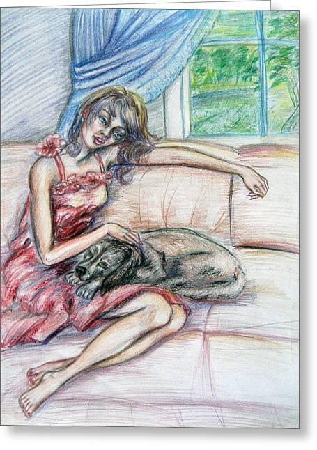 Relaxation  Greeting Card by Yelena Rubin