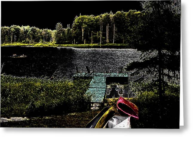 Greeting Card featuring the photograph Relaxing By Moonlight by David Patterson