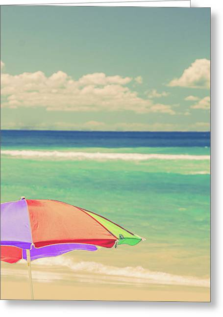 Relaxing By The Beach Greeting Card