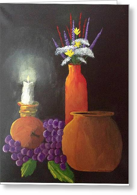 Relaxing Evening  Greeting Card by My Art
