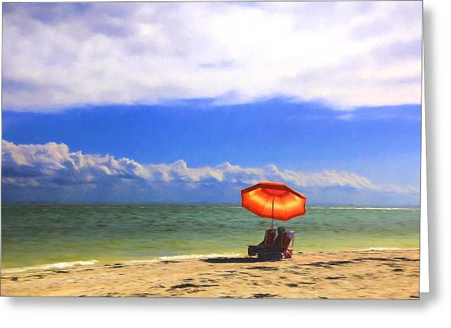 Relaxing On Sanibel Greeting Card