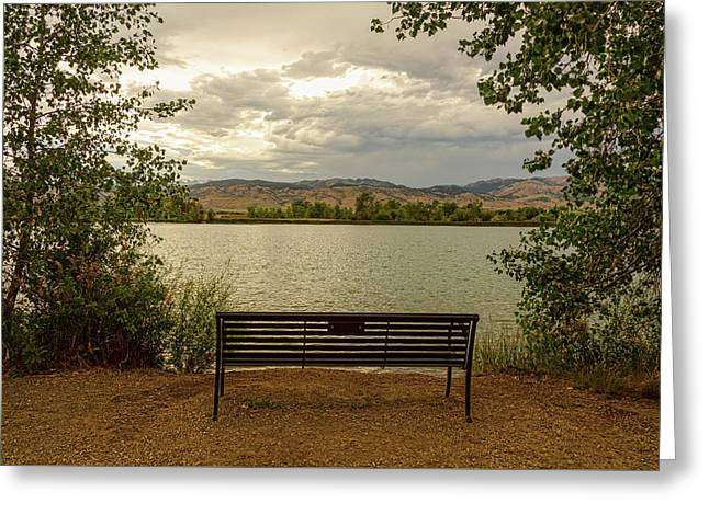 Greeting Card featuring the photograph Relaxing View by James BO Insogna