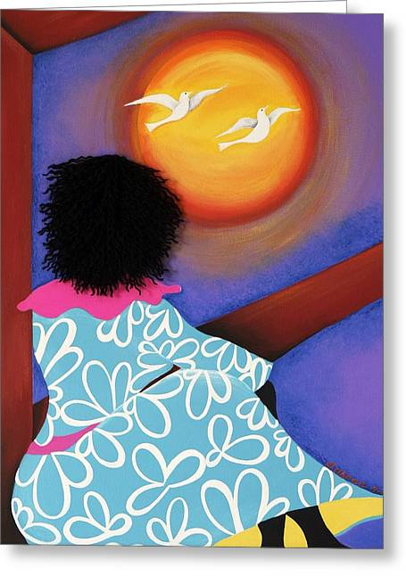 Release Greeting Card by Patricia Sabree