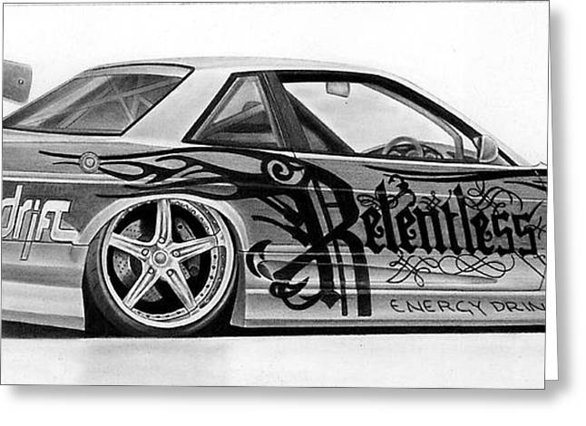 Relentless Drift Greeting Card by Lyle Brown