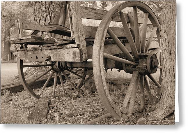 Relic Farm Wagon Greeting Card by Scott Kingery