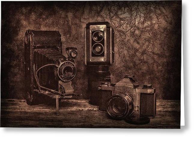 Greeting Card featuring the photograph Relics by Mark Fuller