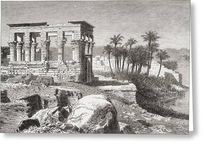 Remains Of The Temple At Philae, Egypt Greeting Card by Vintage Design Pics