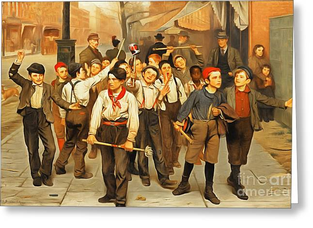 Remastered Art Our Gang By John George Brown 20170408 Greeting Card by Wingsdomain Art and Photography
