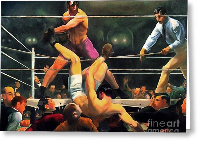 Remastered George Bellows Dempsey And Firpo 20170408 Greeting Card by Wingsdomain Art and Photography