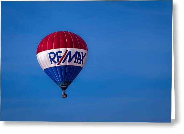 Remax Hot Air Balloon Greeting Card