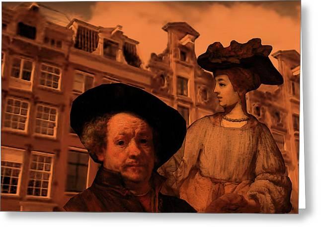 Rembrandt Study In Orange Greeting Card