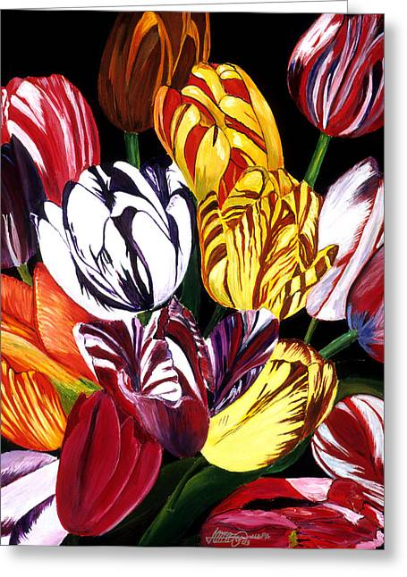 Rembrandt Tulips Greeting Card