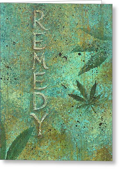 Remedy Greeting Card by Gayle Utter
