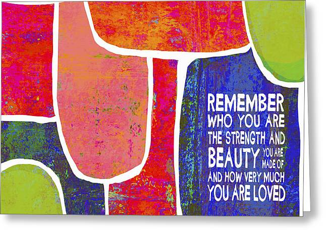 Remember Greeting Card by Lisa Weedn