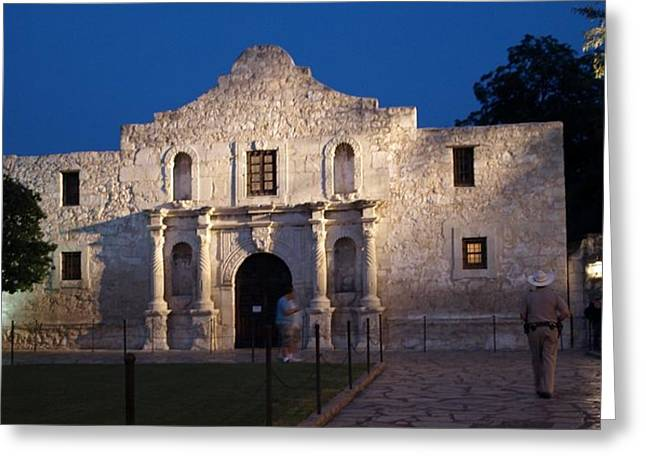 Remember The Alamo Greeting Card by Dennis Stein