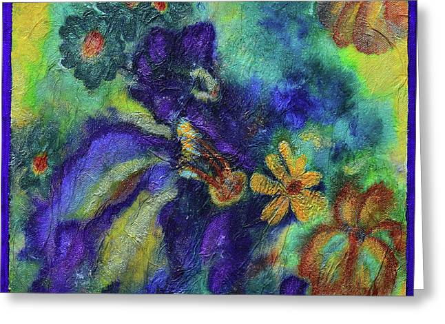 Remember The Flowers Greeting Card by Donna Blackhall