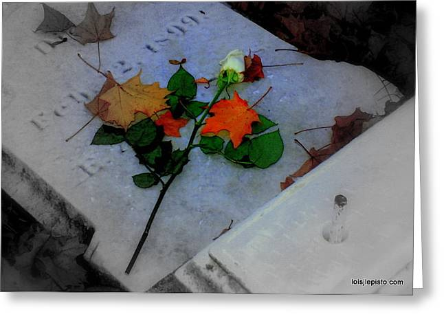 Greeting Card featuring the photograph Rememberance by Lois Lepisto