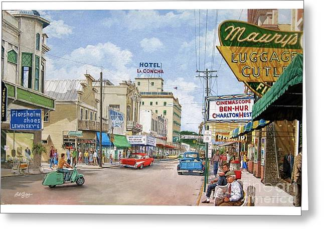 Remembering Duval St. Greeting Card by Bob George