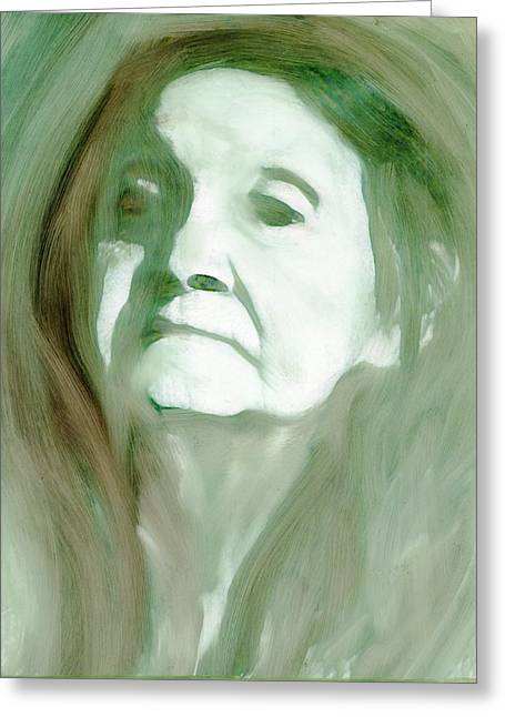 Greeting Card featuring the painting Remembering by FeatherStone Studio Julie A Miller