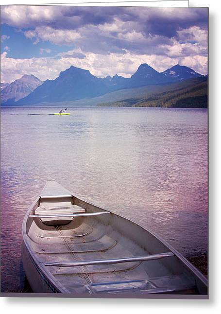 Greeting Card featuring the photograph Remembering Lake Mcdonald by Heidi Hermes