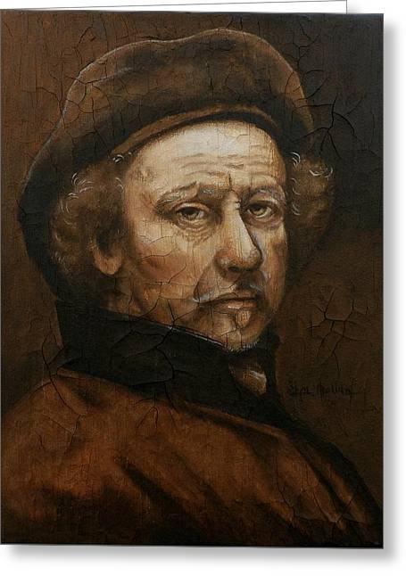 Greeting Card featuring the painting Remembering Rembrandt by Al  Molina